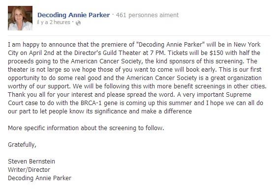 Decoding Annie Parker Premiere